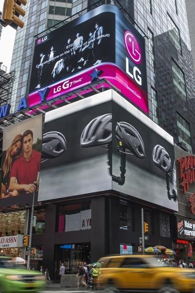 LG G7 ThinQ, 뉴욕 타임스퀘어에서 BTS 마케팅 돌입