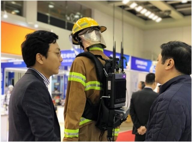 대한민국 국제소방안전박람회에 하이테라 LTE 솔루션 전시