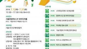 SBA 서울지식재산센터, IP기반 무료 창업교육 'IP창업스쿨 2기' 진행
