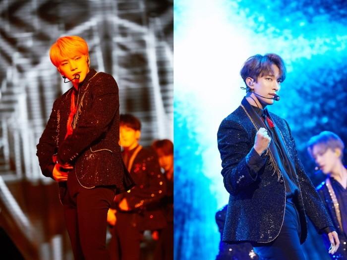 30일 오후 서울 송파구 잠실실내체육관에서는 세븐틴 단독콘서트 '2018 SEVENTEEN CONCERT-IDEAL CUT IN SEOUL' 3일차 공연이 열렸다. 멤버 디노와 도겸의 공연모습. (사진=플레디스 엔터테인먼트 제공)