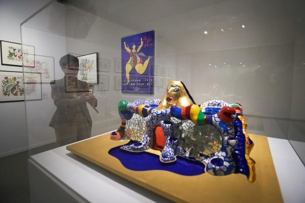 '니키 미술관 모형, 폴리에스터에 비닐 페인트, 금박과 거울, 40×93×80cm, 1989'. 사진=예술의전당 제공