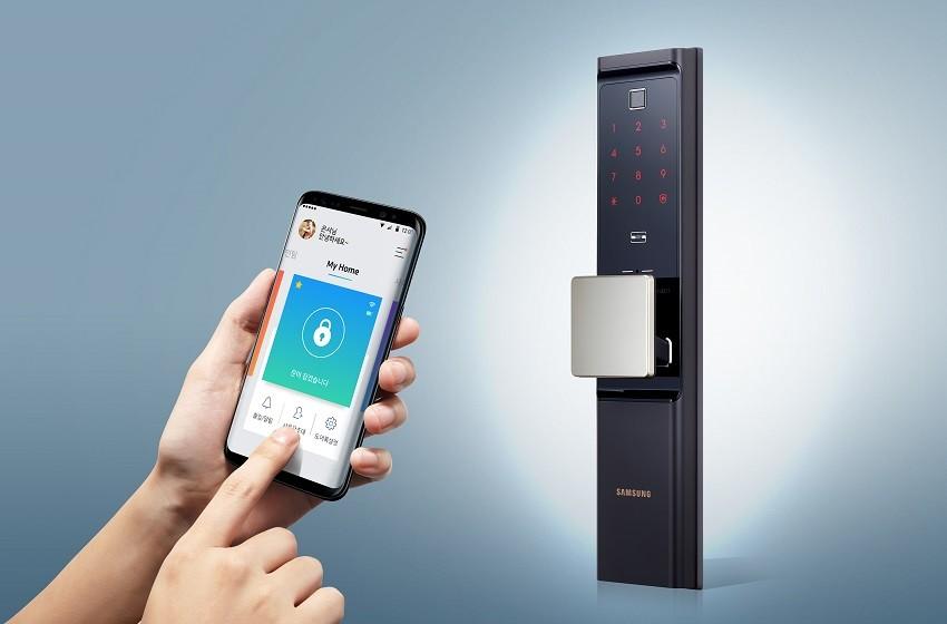 삼성SDS 와이파이 일체형 IoT 스마트 도어록(제품명: SHP-DR900)