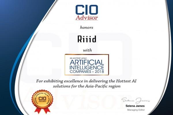 사진 = CIOAdvisor '2018 HOTTEST APAC AI COMPANY' 선정