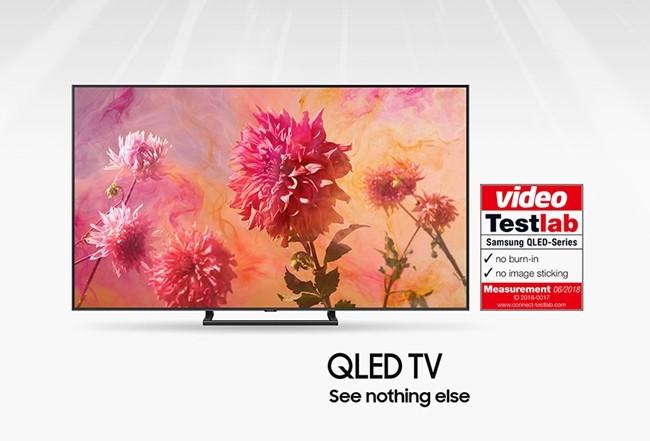 독일 최고 권위의 AV 전문 평가지 '비디오(Video)'가 유력 평가기관인 '커넥트 테스트 랩(Connect Testlab)'과 협업해 삼성 QLED TV에 대한 번인과 잔상 테스트를 실시한 결과, 삼성전자의 2018년형 'QLED TV' 전 모델이 '번인·잔상 프리' 인증을 획득해 최고 화질을 입증했다.