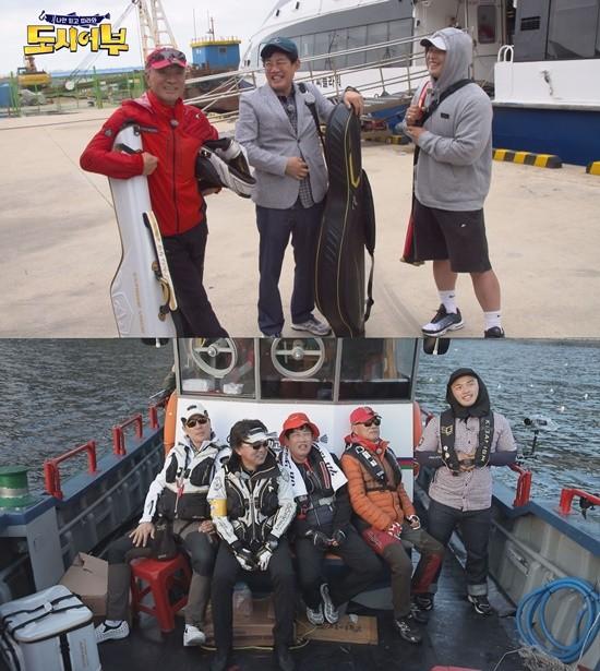 배우 이태곤이 이경규와 함께 '도시어부' 울릉도 낚시에 나섰다. / 사진=채널A 제공