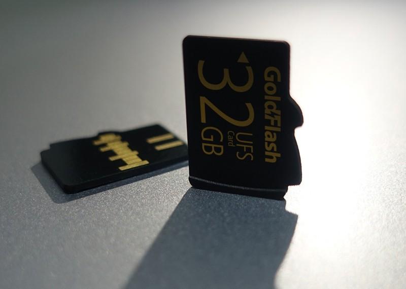 바른전자(대표 김태섭)가  세계 2번째로 출시한 초고속 메모리 유니버설플래시스토리지(UFS)카드