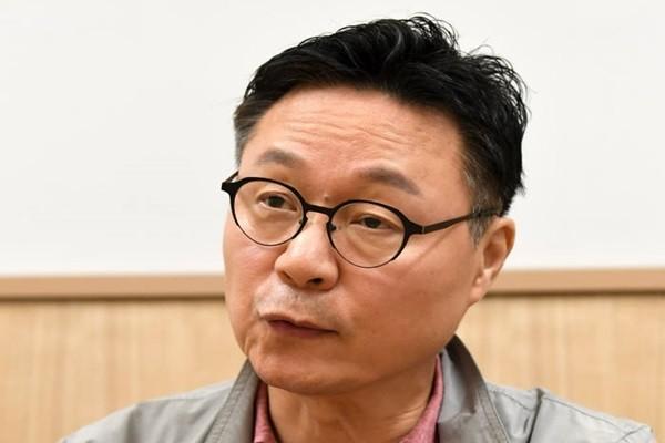 Chairman Shin Geun-young of Blockchain Startup Association (Staff Reporter Kim, Dongwook   gphoto@etnews.com)