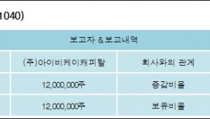 [ET투자뉴스][대호피앤씨 지분 변동] (주)아이비케이캐피탈 외 2명 13.43%p 증가, 13.43%