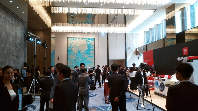 11일 열린 `위닉스 텀블건조기` 출시 미디어데이 현장