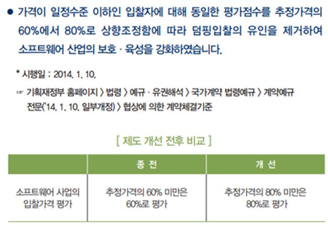 기획재정부 발간, `2014년도 국가계약제도 이렇게 달라집니다`