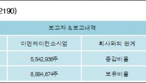 [ET투자뉴스][이에스에이 지분 변동] 이엔케이컨소시엄 외 1명 15.16%p 증가, 32.07% 보유
