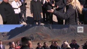 백두산 알리 아리랑 열창 속 '하나가 된 남북 정상'