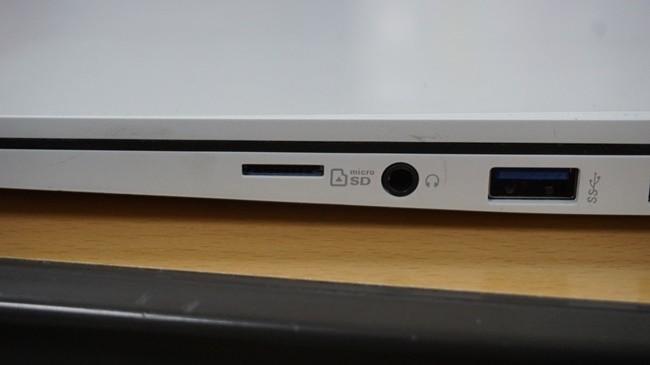LG 올뉴그램 오른쪽에 위치한 마이크로 SD 카드 슬롯
