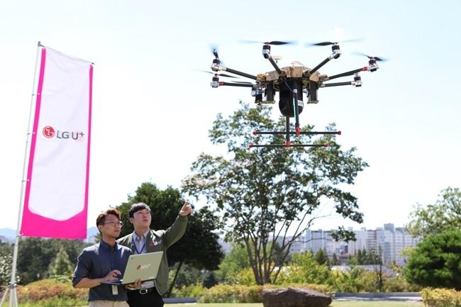 'U+스마트드론' 정찰 비행으로 표적 탐지 시연 성공
