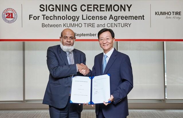 금호타이어, 파키스탄 '센츄리'사와 기술 수출 계약 체결