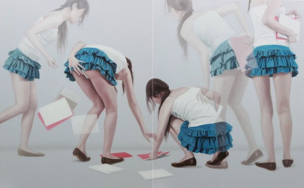 'OVERLAPPING IMAGE S100810L, Oil on Canvas, 162×260.6cm, 2010'. 사진=노화랑 제공
