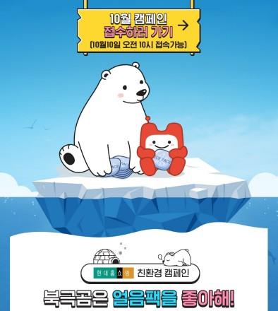 현대홈쇼핑이 분리수거에서도 제외되는 아이스팩을 무료로 직접 수거해 식품 협력업체에 무상 제공하는 자원 재순환 캠페인인 '북극곰은 얼음팩을 좋아해'을 정례화하기로 했다. 사진=현대홈쇼핑 제공