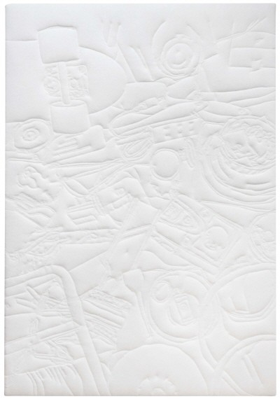 '12월 도쿄, 163×130cm, 재봉틀로 드로잉, 2014'. 사진=롯데갤러리 제공