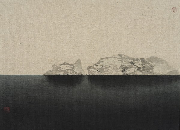 '제주진경, 53×73cm, 아사천에 수묵채색, 2016'. 사진=갤러리두인 제공