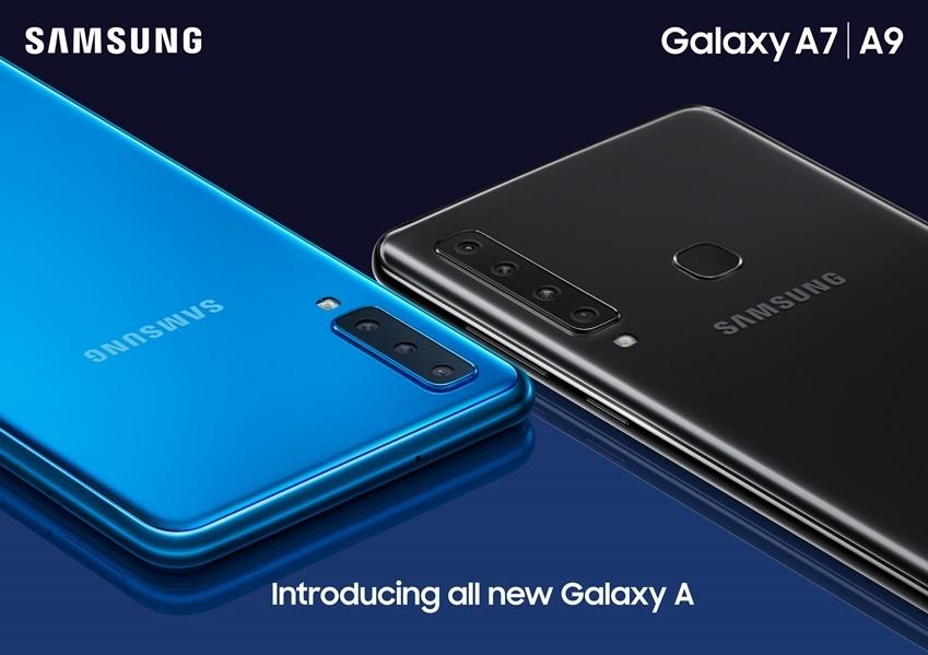 '갤럭시 A9'(왼쪽) 과 '갤럭시 A9' 제품 이미지