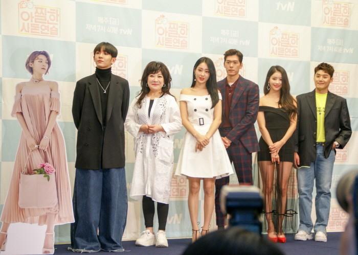 12일 서울 마포구 스탠포드호텔 그랜드볼룸에서는 tvN '아찔한 사돈연습' 기자간담회가 진행됐다. (사진=박동선 기자)