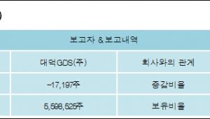 [ET투자뉴스][와이솔 지분 변동] 대덕GDS(주) 외 5명 -0.07%p 감소, 23.19% 보유