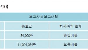 [ET투자뉴스][와이지-원 지분 변동] 송호근 외 8명 0.11%p 증가, 36.14% 보유