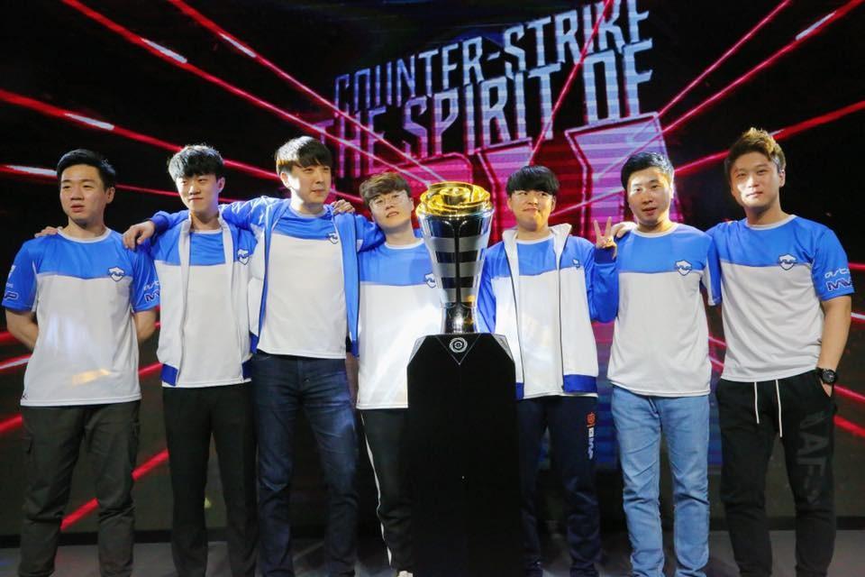'조위 익스트림스랜드 CS:GO 아시아 오픈 2018'에서 우승한 한국 대표팀 MVP PK