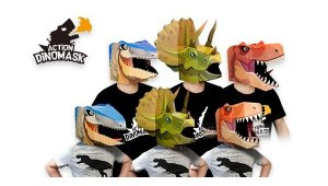 와이팩토리, 입체 공룡 가면 '액션다이노마스크' 새로운 시리즈 소개