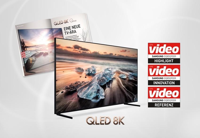 삼성 'QLED 8K' TV, 독일 '비디오'지 역대 최고점 평가···연이은 글로벌 호평