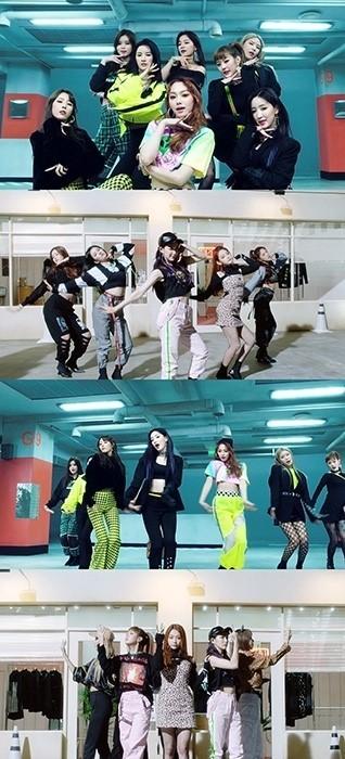 구구단, 'Not That Type' 뮤직비디오 퍼포먼스 버전 공개...칼군무 포착