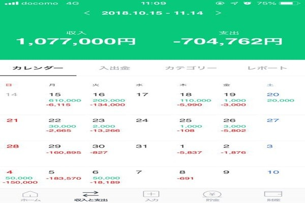 LINE Pay's housekeeping book service