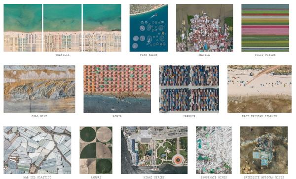 독일의 사진작가 버나드랭의 에어리얼 뷰(Aerial View) 시리즈