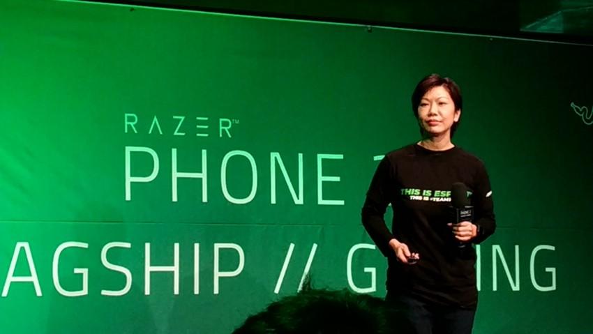 지난 30일 레이저폰2 출시 기자간담회에서 레이저를 소개했던 아이린 응 레이저 수석부사장