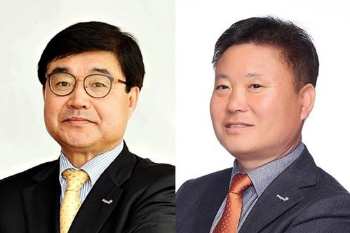 서범원 테크팩솔루션 대표(왼쪽), 정춘오 동원팜스 대표. 사진=동원그룹 제공