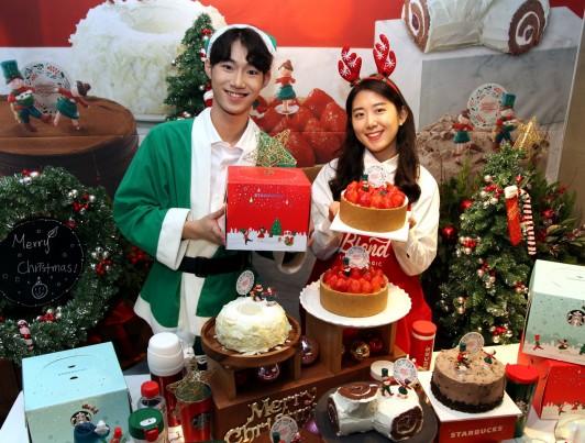스타벅스커피 코리아가 크리스마스 케이크 신상품 6종을 출시하며 오는 12월 17일까지 예약 주문을 통한 판매를 진행한다고 밝혔다. 사진=스타벅스커피 코리아 제공