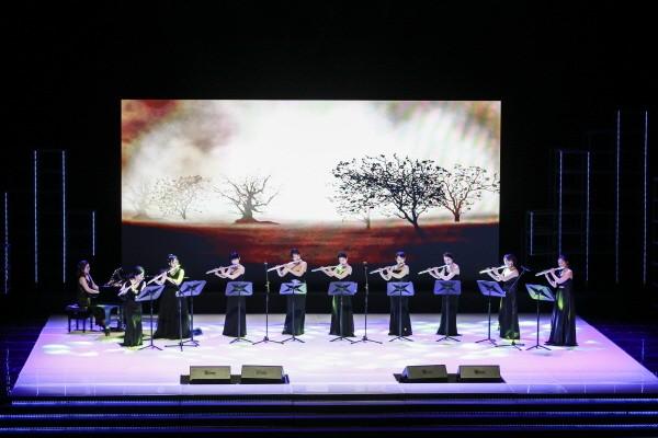 'K-평화콘서트' 두루지야플루트앙상블 공연사진. 사진=사단법인 유라시아친선협회 제공