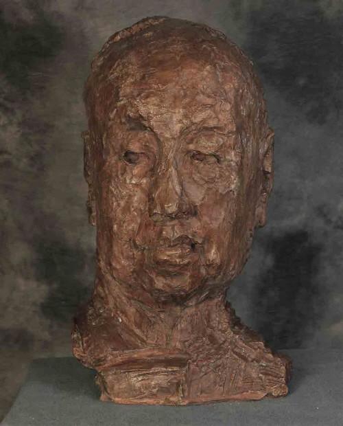 우웨이산 '오창석 두상, 높이 80cm, 2006, 중국국가미술관'. 사진=예술의전당 서예박물관 제공