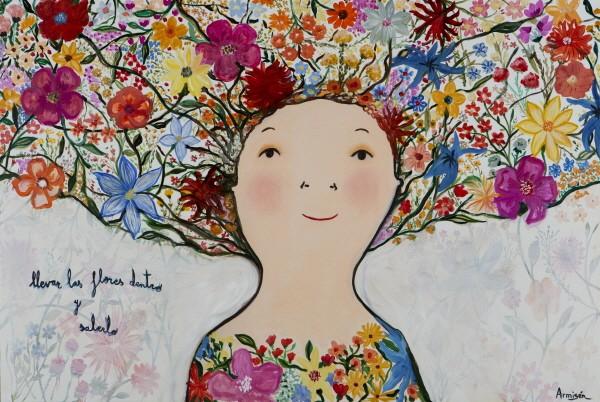 '활짝 핀 꽃, Oil on canvas, 130×195cm, 2018'. 사진=디커뮤니케이션 제공