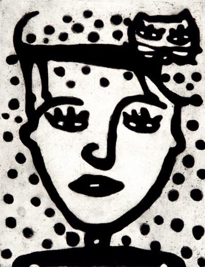 '자신토의 초상화, Carborundum Etching, 70×50cm, 1995'. 사진=디커뮤니케이션 제공