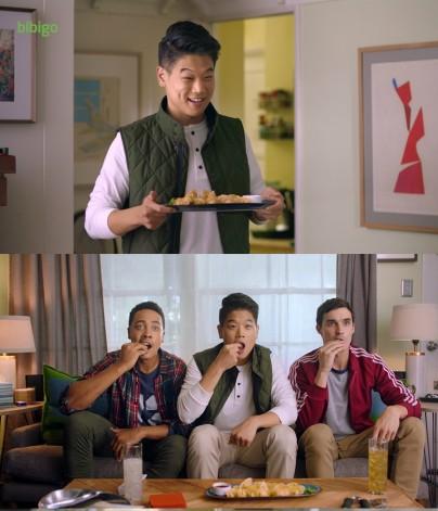 CJ제일제당이 오는 2020년까지 '비비고 만두'의 매출을 1조원까지 올리고, 세계 시장 1위 달성한다는 야심찬 글로벌 비전을 내놨다.  미국 TV 비비고 광고 장면. 사진=넥스트데일리 DB