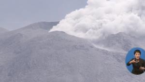 일본 화산폭발, 화산재로 뒤덮인 섬...재폭발 가능성도