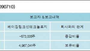 [ET투자뉴스][디에스티로봇 지분 변동] 베이징링크선테크놀로지 외 1명 -0.82%p 감소, 7.11%
