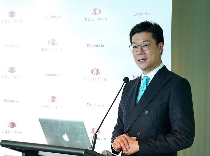 에퀴닉스 에퀴닉스  아시아태평양 총괄사장 사무엘 리(Samuel Lee)가 한국진출에 대해 설명하고 있다. 사진제공 = 에퀴닉스