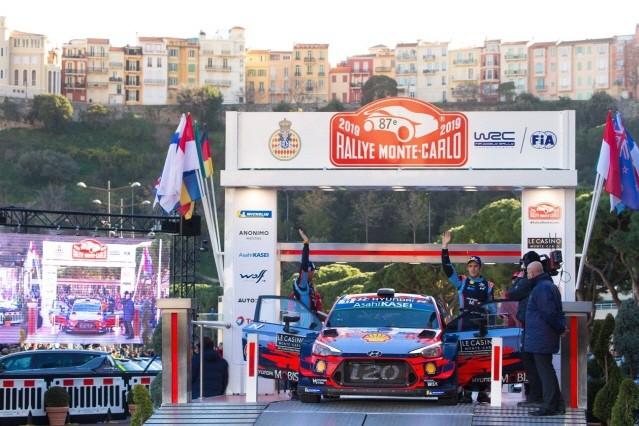 현대차 월드랠리팀, WRC 몬테카를로 랠리서 제조사 부문 1위 달성