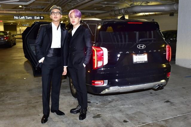 방탄소년단(BTS), 팰리세이드 타고 美 그래미 어워즈 참석