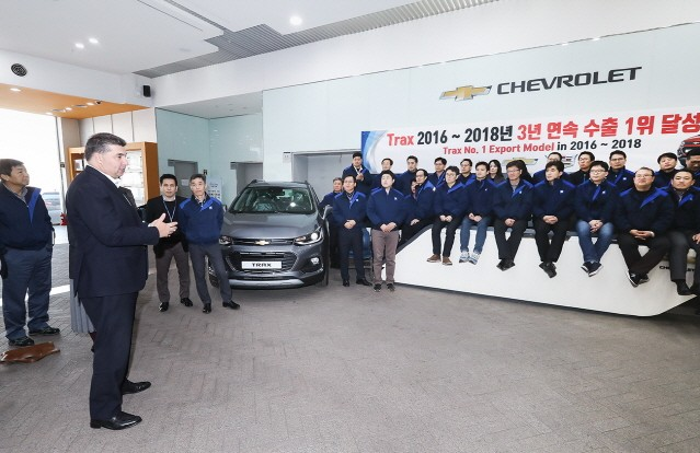 쉐보레 트랙스, 3년 연속 국내 완성차 수출 1위 기록
