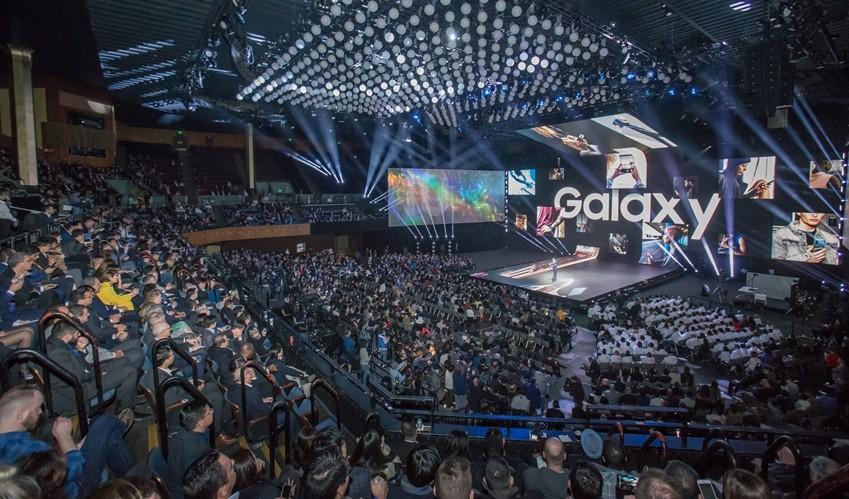 미국 샌프란시스코 빌 그레이엄 시빅 센터(Bill Graham Civic Auditorium)에서 현지시간 20일 진행된 '삼성 갤럭시 언팩 2019' 현장 스케치 [사진=삼성전자]
