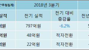 [ET투자뉴스]서원인텍 18년4분기 실적 발표... 영업이익·순이익 적자 전환
