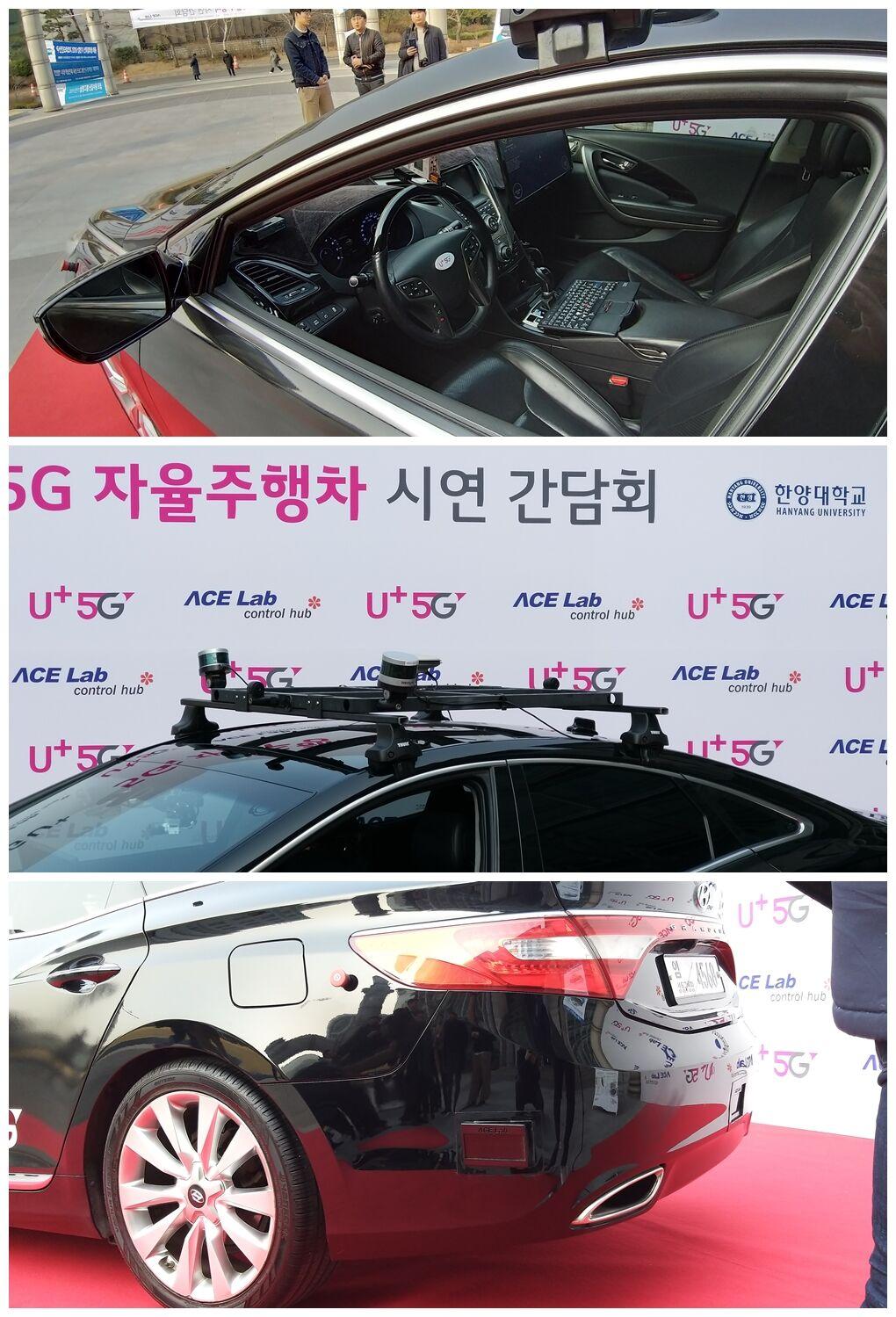 11일 서울 도심 도로 자율주행 시연에 사용된 A1에는 라이다, 레이다, 카메라, 측면 센서 등 여러 장치가 탑재됐다.